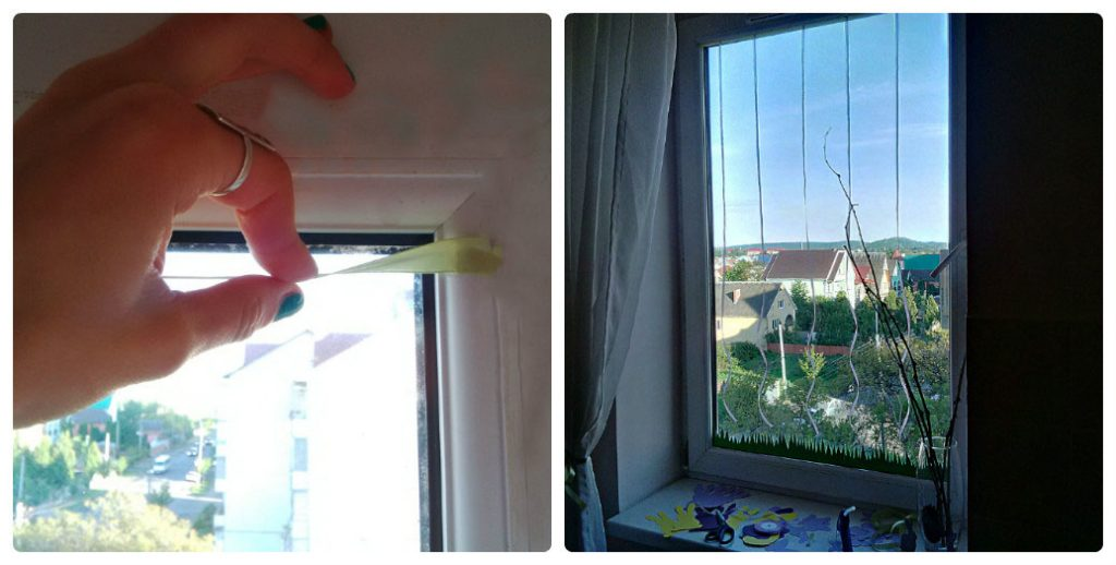 пасхальный декор окна