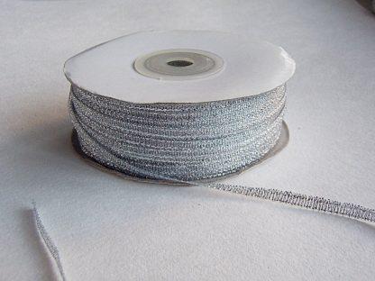 купить ленту парча серебро